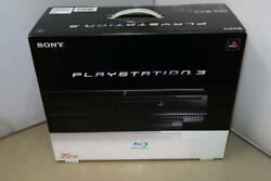 Sony Cechb00 Playstation 3 Game Console 20gb Ps1 / Ps2 / Ps3 Early Model Black