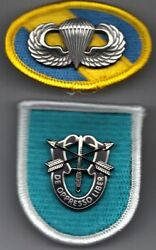 2nd Special Forces Group - Beret Flash Di / Crest Oval Jump Wings