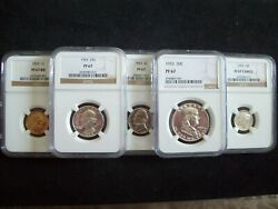 1953 5 Piece Franklin Proof Set Certified Proof 67 And 67 Cameo By Ngc Wow