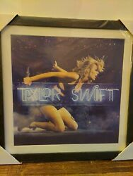 Taylor Swift Signedandnbspautograph Framed 1989 Poster Neon New Condition 22 X 22