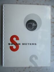 Solon Meters Catalog And Parts List - For Pinball, Coin Op Machines 1958
