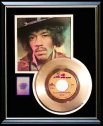 Jimi Hendrix All Along The Watchtower Rare 45 Rpm Gold Metalized Record Rare
