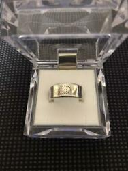 Hermes Accessory Luban Ring Size 52 New Elipes H Logo Used Silver Designer Women