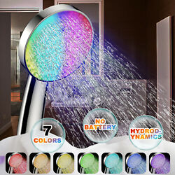Colorful Shower Head Bathroom 7 Colors Changing Led Water Glow Light Up Shower