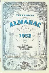 Bell Telephone System Almanac 1952 Phone Facts Utilities