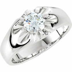 1 1/2ct Solitaire Diamond Mens Wedding Ring White Or Yellow Gold Enhanced