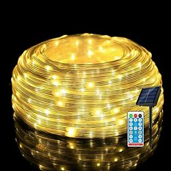 [new Upgraded] Outdoor String Lights Solar 66ft 200leds Ip67 Waterproof Rope