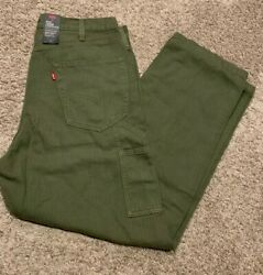 Leviand039s Premium Stay Loose Carpenter Jeans Pants Olive Menand039s Sizes Nwt Rt89 0001