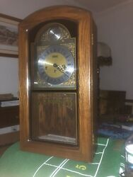 Linden Westminster Antique Chime Wall Clock Grandmother Grandfather Great Cond.