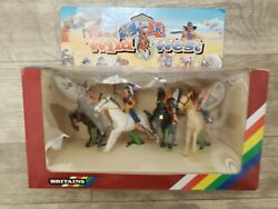 Britains Deetail Wild West Mounted Indians Figures Rare Vintage 1992