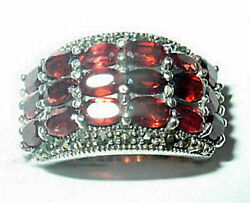 Antique Garnet Ring And Marcasite Sterling Silver Size 7 Best Offer