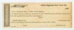 1860and039s S. Rightmyre - 109th Regiment New York Sutler Scrip Unc