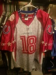 Authentic Jersey Nfl Pro Bowl Jersey Sz 50 Peyton Manning Colts Broncos 2010 Ind