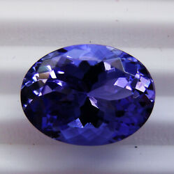 4.18ct Natural Tanzanite Expertly Faceted In Germany -untreated +certificate
