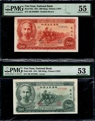 Vietnam 200 Dong 1951 P.63a And P.63b Rare