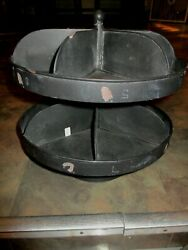 Vintage Rotating Auto Hardware Store Industrial Parts Bin Counter Display