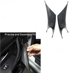 2pcs Carbon Fiber Inner Door Handle Protect Case Cover For Bmw 3 Series F30/f31