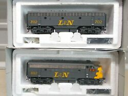 Broadway L And N F7a And F7b Powered Locomotive's With Dcc And Sound Ho Scale