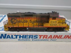 Walthers Weathered - Chessie - C And O Gp9m Locomotive 626 With Dcc Ho Scale