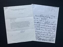 Glenn Gould Rare Typed Letter Signed Piano Pianist
