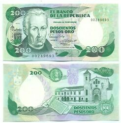 Colombia Note 200 Pesos 1985 Replacement P 429c Unc