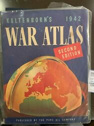 Rare - Kalterborn's 1942 War Atlas - Published By The Pure Oil Company