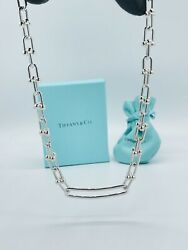 And Co. Hardwear Link Chain Sterling Silver 17and039 Inch Necklace Rare 1875