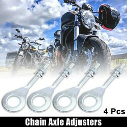 4 Pcs 15mm 0.59 Chain Axle Adjuster For Honda Crf70f 2004-2009 Silver Tone