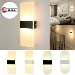 Modern Led Wall Lighting Up Down Cube Bedroom Sconce Lamp Fixture Indoor Outdoor