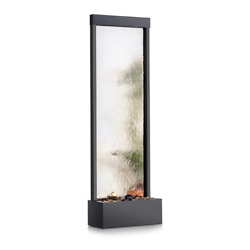 Waterfall Fountain 72 In. Relaxing Water Flow Stainless Steel Pump Included