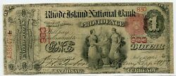 Fr. 384 1875 1 Ch 983 National Bank Note Providence, Rhode Island