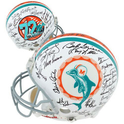 1972 Dolphins Autographed 40th Anniversary Edition Authentic Helmet Fanatics