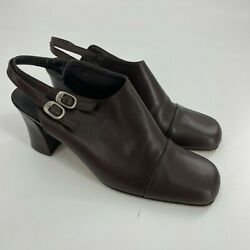 Vintage Enzo Angiolini Heels Mules Shoes Size 7.5