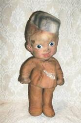 Vintage Antique Rempel Davy Crockett Rubber Toy Doll W Squeaker Akron Ohio As Is