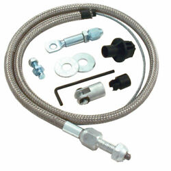 Spectre 2431 3 Ft Braided Carb Throttle Cable, 2 Ft Housing W/fittings