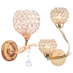 Modern Crystal Led Wall Light Fixture Scone Indoor Lamp For Bedroom Living Room