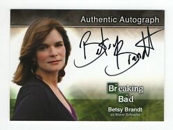 Breaking Bad Seasons 1-5 Autograph Card A2 Betsy Brandt - Marie Schrader