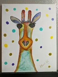 Painting Of A Whimsical Giraffe 16 X 20 Watercolor Make An Offer