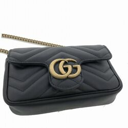 Gg Marmont Quilting Super Mini Bag Chain Shoulder Leather Diagonal Hanging