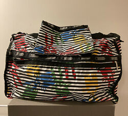 Lesportsac X Peter Jensen Rabbit Large Weekender With Pouch Stripes