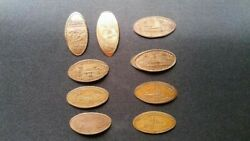1936/1937/1986 Great Lakes Expo Elongated Pennies - Cleveland Ohio Lot Of 9