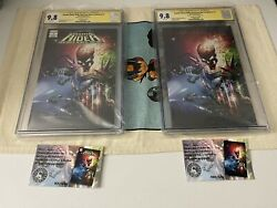 Cosmic Ghost Rider Destroys Marvel History 1 Trade Dress And Virgin Cgc Ss X1 9.8