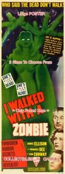I Walked With A Zombie 1943 She's Alive Yet Dead=poster3sizes 6ft / 9ft / 10.5ft