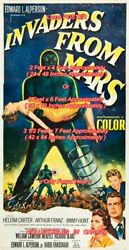 Invaders From Mars 1953 Alien = Poster 3 Sizes 4 / 6 / 7 Feet Buy 2 Get 1 Free