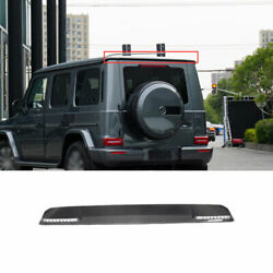 For Benz G-class G63 2019-2021 Real Carbon Fiber Roof Boot Spoiler Wing Flap 1pc