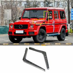 For Benz 2004-2018 G-class G55 G63 Real Carbon Fiber Front Engine Hood Side Vent