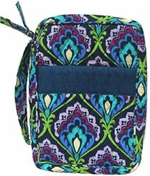 Blue Peacock Fabric Large Bible Cover Book Zippered Sizes 10 X 7 X 2.75