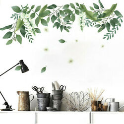 Tropical Leaves Green Plant Wall Stickers PVC Decal Nursery Art Mural Home#ww