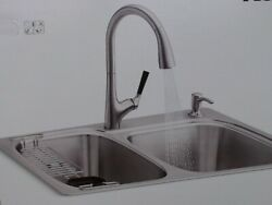 Kohler All-in-one Kitchen Sink Kit - Dual-mount Double Bowl - New Factory Sealed