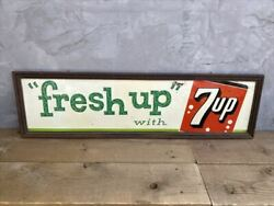 60s 7up Metal Sign/vintage Signage/freeh Up/usa/crate/160102758